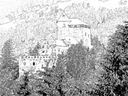 Europe Drawings - Burg Reifenstein Sterzing Italy by Joseph Hendrix