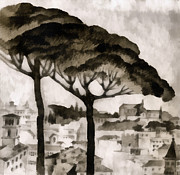 By Italy Print by Odon Czintos