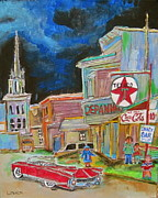Texaco Sign Paintings - Cadillac in Hawkesbury by Michael Litvack