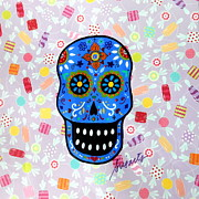 Gato Paintings - Calavera by Pristine Cartera Turkus