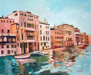 Palaces Mixed Media - Canal Grande by Filip Mihail