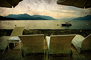 Lake Maggiore Posters - Canvas Chairs Poster by Joana Kruse