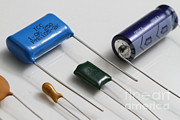 Metallized-film Prints - Capacitors Print by Photo Researchers, Inc.