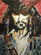 Captain Jack Sparrow Prints - Captain Jack Sparrow Grimm Print by Nzephany Madrigal Uzoka
