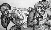 Cartoonish Art - Caricature Of Two Alcoholics, 1773 by Science Source