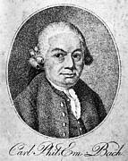 Aquatint Posters - Carl Philipp Emanuel Bach Poster by Granger