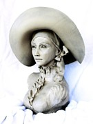 Portraits Sculpture Acrylic Prints - Carleni Acrylic Print by Wayne Niemi