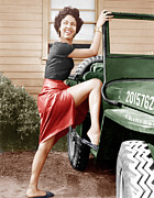 Full Skirt Metal Prints - Carmen Jones, Dorothy Dandridge, 1954 Metal Print by Everett