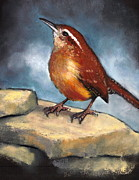 Creature Pastels Framed Prints - Carolina Wren Framed Print by Joyce Geleynse