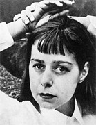 Bangs Framed Prints - CARSON McCULLERS Framed Print by Granger