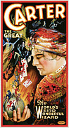 Cards Vintage Painting Posters - Carter the Great Poster by Unknown