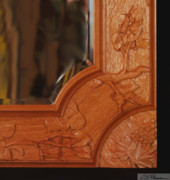 Carving Reliefs - Carved mirror frame by Scott Reuman
