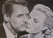 Cary Framed Prints - Cary Grant and Grace Kelly Framed Print by Mike OConnell