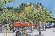 Provence Village Mixed Media Prints - Cassis sur Mer Print by Constance Drescher