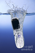 Cellphone Posters - Cell Phone Dropped In Water Poster by Ted Kinsman