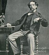 Famous Literature Art - Charles Dickens, English Author by Photo Researchers