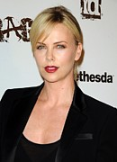 Official Portrait Posters - Charlize Theron At Arrivals Poster by Everett