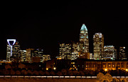 Mecklenburg County Prints - Charlotte Skyline at night Print by Patrick Schneider