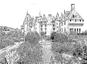 Flower Photography Drawings - Chateau-de-Langeais Flower Garden by Joseph Hendrix