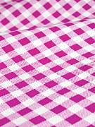 Checked Framed Prints - Checked Tablecloth Framed Print by Maria Toutoudaki