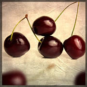 Texture Metal Prints - Cherries Metal Print by Bernard Jaubert