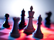 Game Piece Photo Posters - Chess Pieces Poster by Tek Image