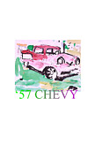 57 Chevy Painting Framed Prints - Chevy Framed Print by Samuel Zylstra