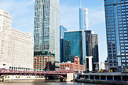Merchandise Photos - Chicago River Skyline by Paul Velgos