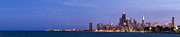 Sky Line Art - Chicago Skyline at Dusk by Twenty Two North Photography