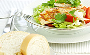 Lettuce Photos - Chicken salad by Blink Images