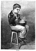 Soup Framed Prints - Child Eating, 1875 Framed Print by Granger