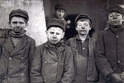 Lewis Wickes Hine Prints - Child Laborers Portrayed By Lewis Hine Print by Everett