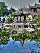 Reflecting Art - China Garden by David Bearden