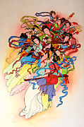 Chinese Painting  Print by Phalakon Jaisangat