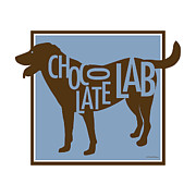 Labrador Digital Art Metal Prints - Chocolate Lab Metal Print by Geoff Strehlow