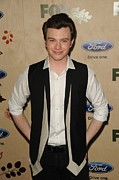 The Bookbindery Prints - Chris Colfer At Arrivals For Fox Fall Print by Everett