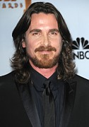 Album Release Party Posters - Christian Bale In The Press Room Poster by Everett