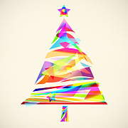 Christmas Eve Digital Art Prints - Christmas Tree Design Print by Setsiri Silapasuwanchai