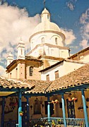Latin America Photos - Church in Cotacachi by Sarah Loft
