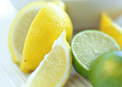 Lime Photo Prints - Citrus Fruits Print by David Munns