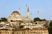 Religious Structure Prints - City of Istanbul Print by Artur Bogacki