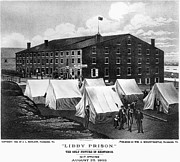 Confederate Flag Framed Prints - Civil War: Libby Prison Framed Print by Granger