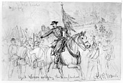War Drawing Framed Prints - Civil War: Spotsylvania Framed Print by Granger