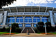 Municipal Posters - Cleveland Browns Stadium Poster by Robert Harmon