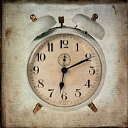 Flypaper Textures Prints - Clock Print by Bernard Jaubert