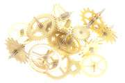 Mechanism Photo Prints - Clockwork Mechanism Print by Michal Boubin