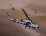 Marines Painting Originals - Close Air Support by Stephen Roberson