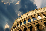 Low Angle Views Prints - Coliseum. Rome. Lazio. Italy. Europe Print by Bernard Jaubert