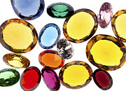 Gift Jewelry Metal Prints - Colorful Gems Metal Print by Setsiri Silapasuwanchai