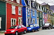 Houses Framed Prints - Colorful houses in St. Johns Framed Print by Elena Elisseeva